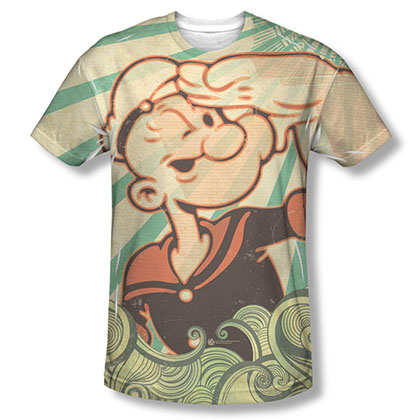 Popeye Traveling Man Sublimation T-Shirt