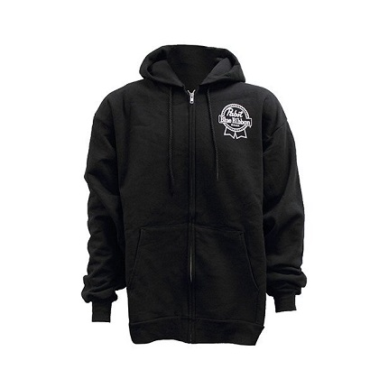 PBR Black Zip Up Hoodie