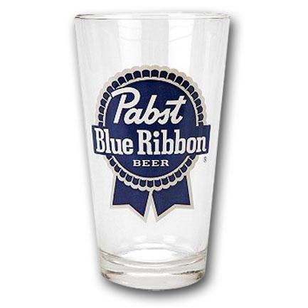Pabst Blue Ribbon (PBR) Pint Glass