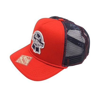 PBR Red Trucker Hat