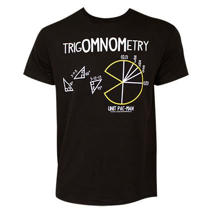 Pac-Man TrigOMNOMetry Men's Black Tee Shirt