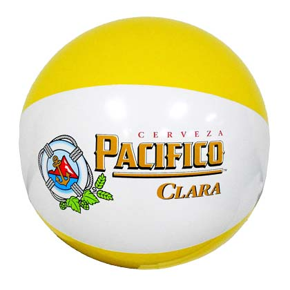 Pacifico Clara Yellow Inflatable Beach Ball