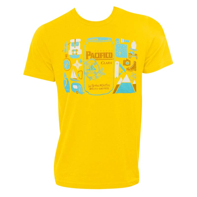 Pacifico Men's Yellow Can Logo T-Shirt