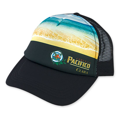 Pacifico Men's Black Beach Mesh Trucker Hat