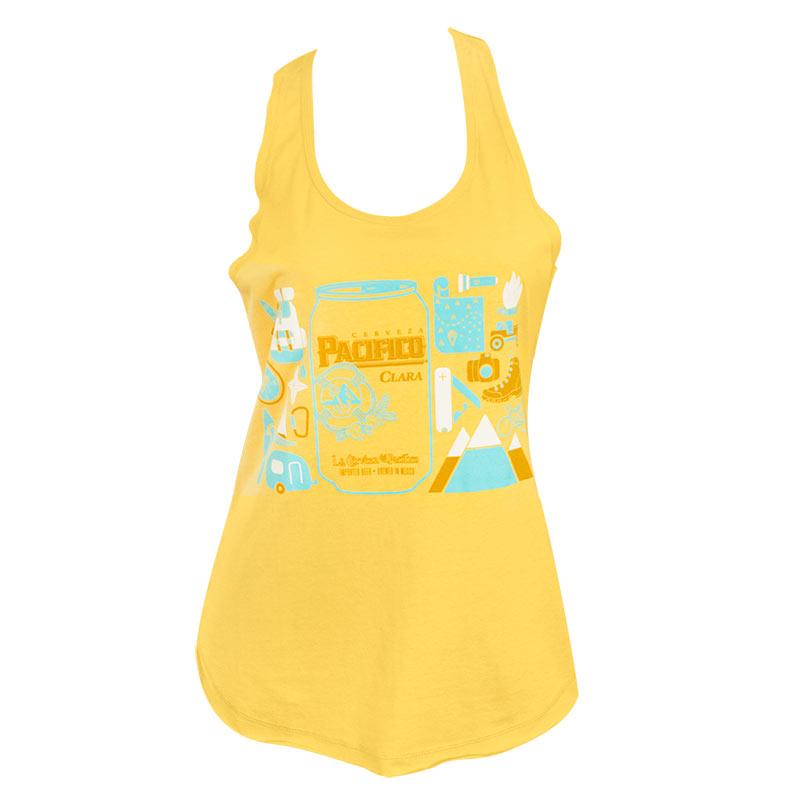 Pacifico Women's Yellow Tank Top
