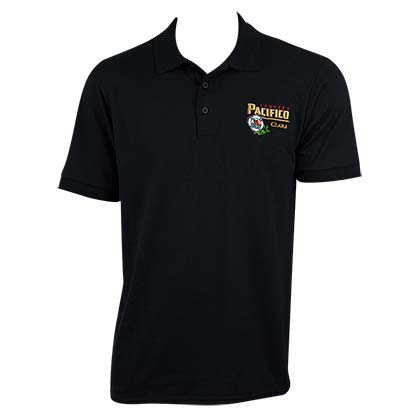 Pacifico Men's Black Knit Polo Shirt