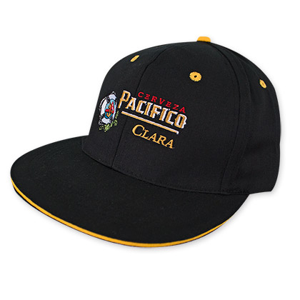 Pacifico Beer Logo Flat Bill Hat