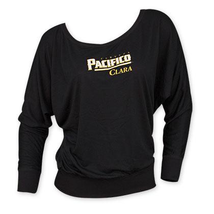 Pacifico Black Long Sleeve Women's Beer Logo Tee Shirt