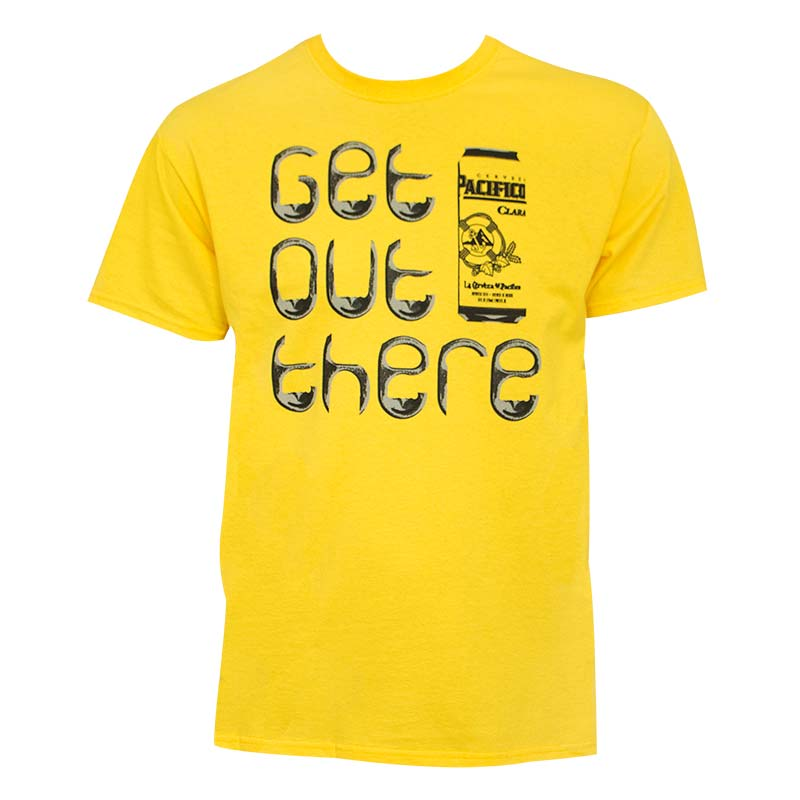 Pacifico Men's Yellow Get Out There T-Shirt