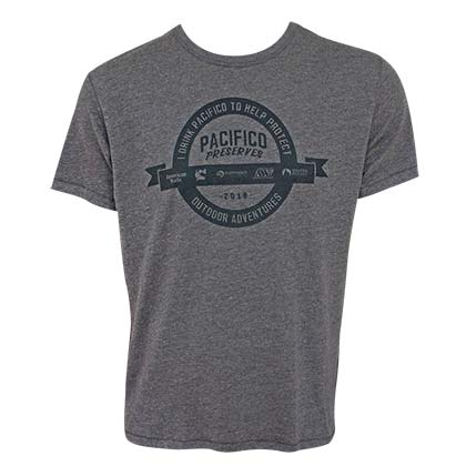 Pacifico Preserves Outdoor Adventures Men's Gray TShirt