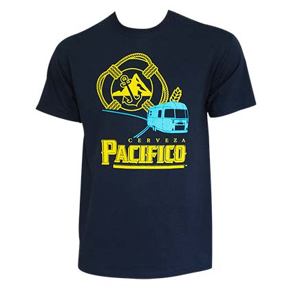 Pacifico Men's Navy Blue RV T-Shirt