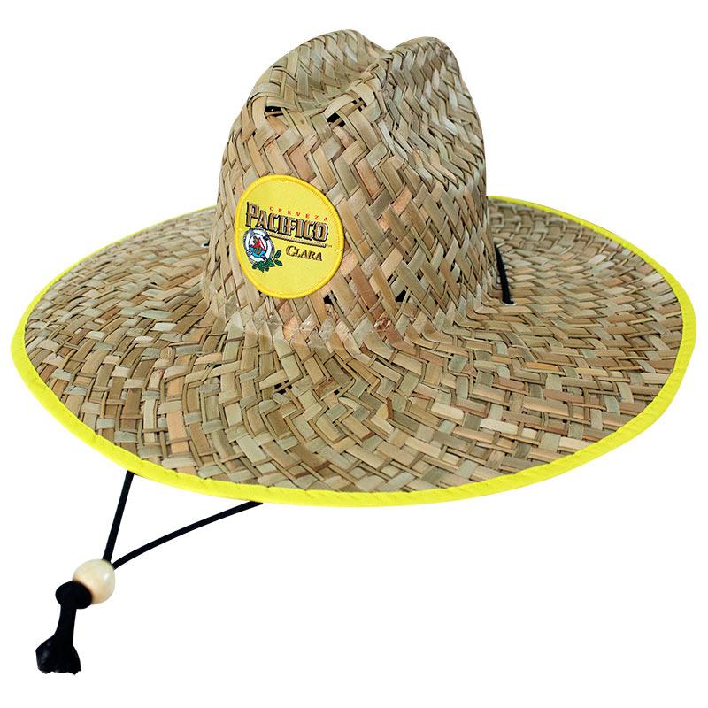 280bd280137 Pacifico Straw Lifeguard Beach Sun Hat