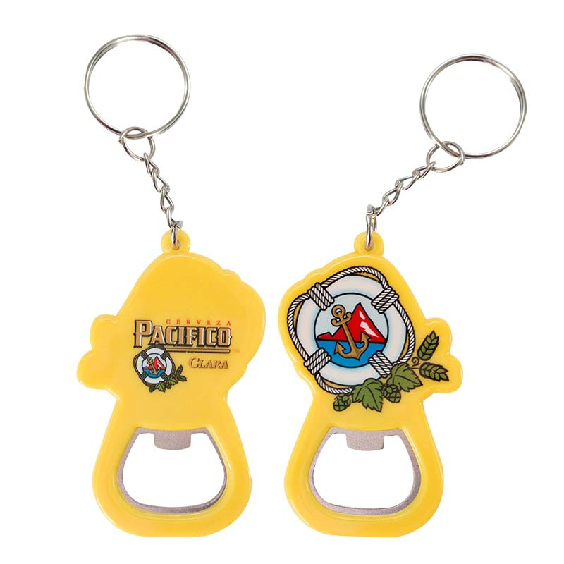 Pacifico Yellow Beer Bottle Opener Keychain