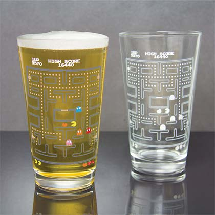 Pac-Man Color Changing Pint Glass