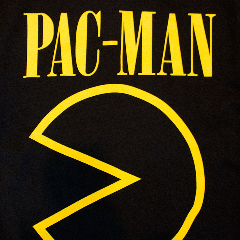 Pac-Man Men's Black Face Tee Shirt
