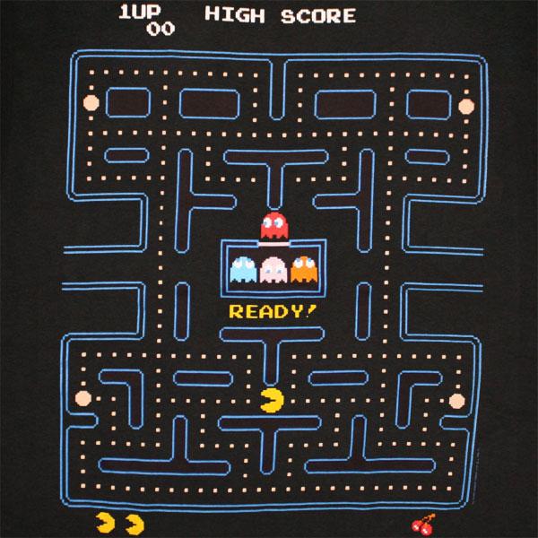 Pac Man Start Game T Shirt Black