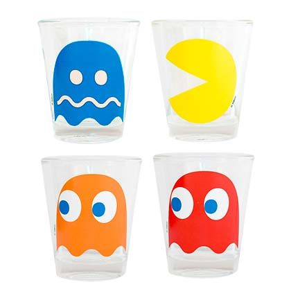 Pac Man Ghosts 4 Pack Shot Glass