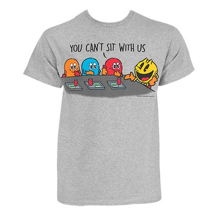 Pac-Man Men's Grey You Can't Sit With Us T-Shirt