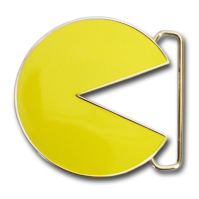 Pac-Man Nintendo Yellow Icon Chrome Belt Buckle