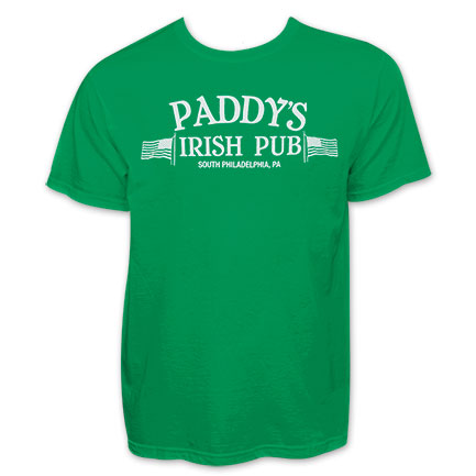 Paddy's Irish Pub Philadelphia St. Patrick's Green Graphic Tee Shirt