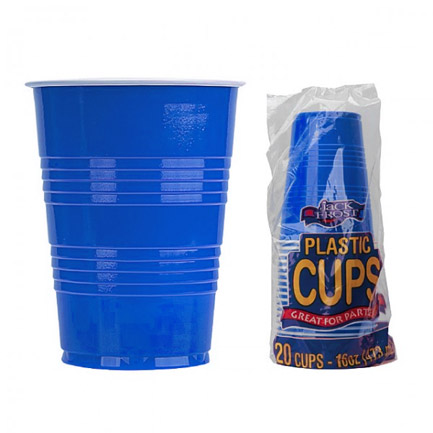 20 Pack of 16 Ounce Blue Solo Cups