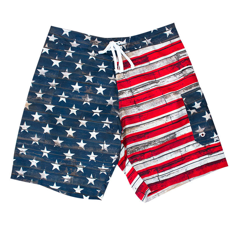 Usa American Flag Faded Board Shorts