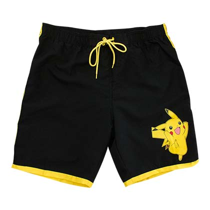 Pokemon Men's Black Pikachu Board Shorts