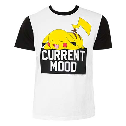 Pokemon Pikachu Men's White Current Mood T-Shirt