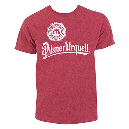 Pilsner Urquell Logo Men's Heather Red TShirt