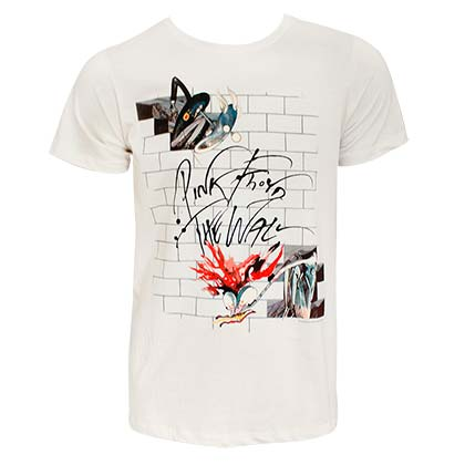 Pink Floyd Men's Off-White The Wall T-Shirt