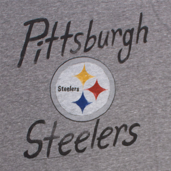 Pittsburgh Steelers Fan Tee Heather Grey