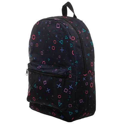 Playstation Buttons All Over Print Black Backpack