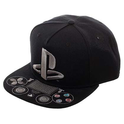 Playstation Logo Controller Black Men's Hat