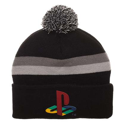 Sony Playstation Console Logo Winter Pom Beanie