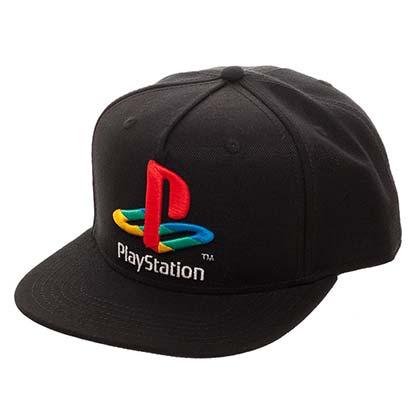 Playstation Classic Logo Men's Black Snapback Hat