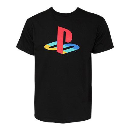 Playstation Men's Black Classic Logo T-Shirt