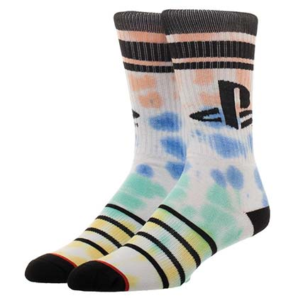 Playstation Tie Dye Vintage Men's Crew Socks