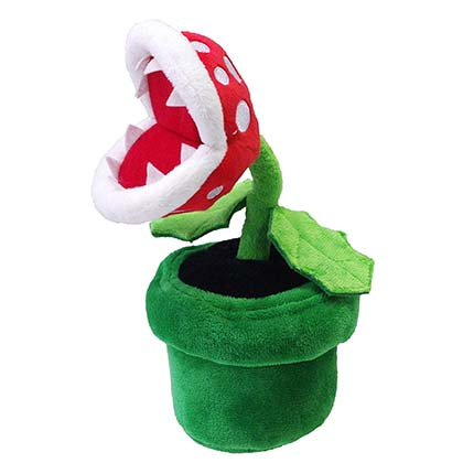 Super Mario Bros Piranha Plant Green Plush Doll