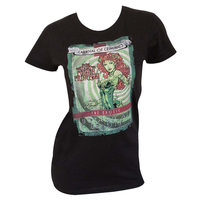 Batman Women's Black Carnival Of Criminals T-Shirt