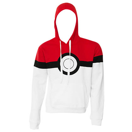 Pokemon Men's White Pokeball Hoodie
