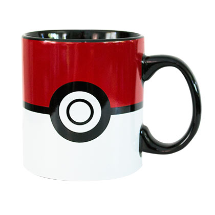 Pokemon Red & White Jumbo Pokeball Coffee Mug