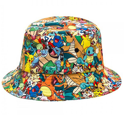 Pokemon Men's Characters Sublimated Bucket Hat