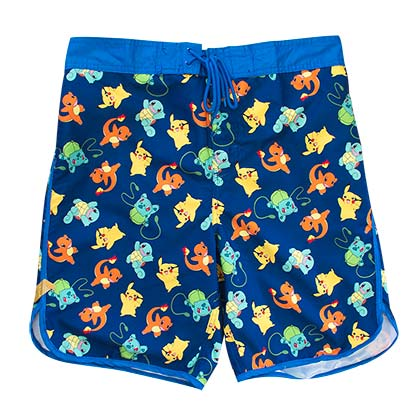 Pokemon Blue Characters Men's Board Shorts