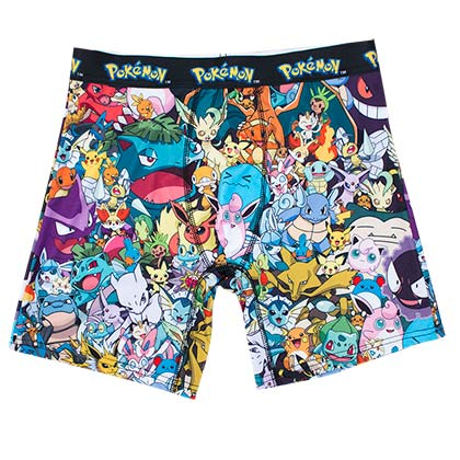 Pokemon Men's Mob Scene Boxer Briefs