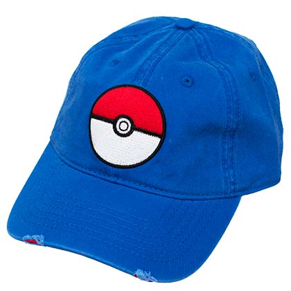 Pokemon Pokeball Dad Blue Hat