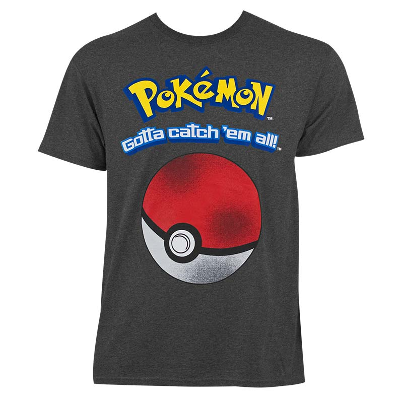 4ca01451 item was added to your cart. Item. Price. Pokemon Men's Heather Grey Gotta  Catch Em All T-Shirt