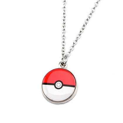 Pokemon Pokeball Charm Necklace