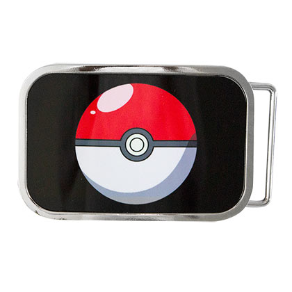 Pokemon Black Pokeball Belt Buckle