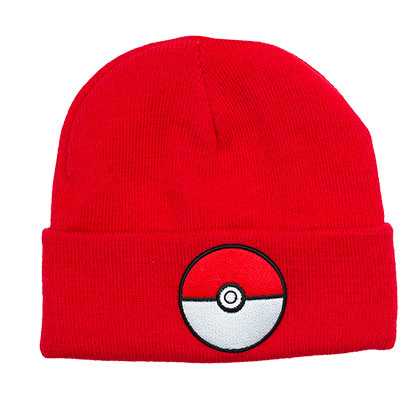 Pokemon Pokeball Red Folded Beanie