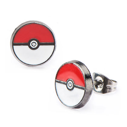 Pokemon Pokeball Logo Earrings